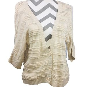 Like New Love By Design Short Sleeve Knit Cardigan